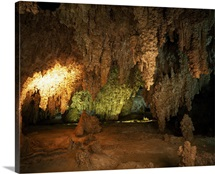 Calcite formations in cave interior, Carlsbad Caverns National Park, New Mexico