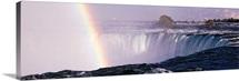 Canada, Ontario, Niagara, Rainbow over Niagara Falls