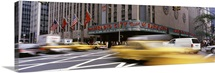 Cars in front of a building, Radio City Music Hall, New York City, New York State