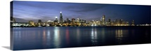 City at the waterfront, Chicago, Cook County, Illinois