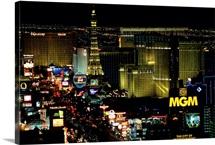 City lit up at night, The Strip, Las Vegas, Clark County, Nevada
