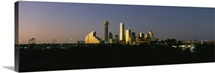 City skyline at dusk, Dallas, Texas