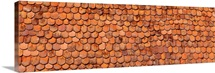 Close-up of old roof tiles, Rothenburg, Germany
