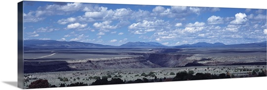 Clouds over a landscape, Rio Grande Gorge, Taos, New Mexico