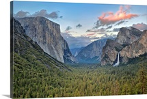 Clouds over a valley, Yosemite Valley, Yosemite National Park, California