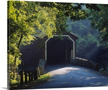 Covered bridge in a forest, Lancaster, Pennsylvania
