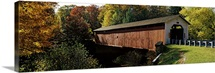 Covered bridge in a forest, McGees Mill Covered Bridge, McGees Mills, Clearfield County, Pennsylvania,