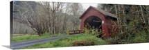 Covered Bridge over Yachats River Lincoln County OR