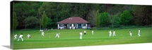 Cricket match in progress Patcham Brighton East Sussex England