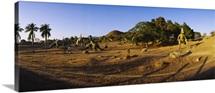Dinosaur sculptures in a park, Dinosaur Park, Santiago De Cuba, Cuba
