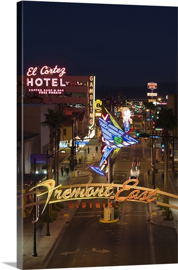 El Cortez, Fremont Street, The Strip, Las Vegas, Nevada