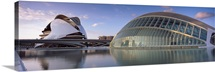 Entertainment buildings at the waterfront, City Of Arts And Sciences, Valencia, Spain