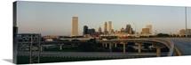 Expressway in a city, Tulsa, Oklahoma