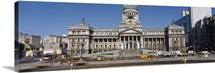 Facade of a building, Congreso Nacional, Buenos Aires, Argentina