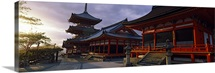 Facade of a temple, Kiyomizu-Dera Temple, Kyoto, Kyoto Prefecture, Kinki Region, Honshu, Japan
