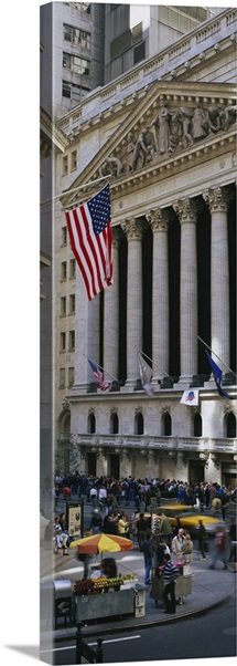 Facade of New York Stock Exchange, Manhattan, New York City, New York State