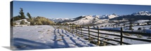 Fence on a landscape, Telluride, Colorado