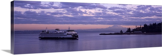 Ferry in the sea, Bainbridge Island, Seattle, Washington State
