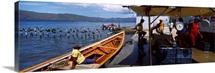Fishermen at the coast Santa Fe Mochima National Park Anzoategui State Sucre State Venezuela