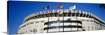 Flags in front of a stadium, Yankee Stadium, New York City, New York