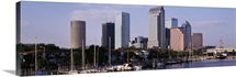 Florida, Tampa, View of waterfront and city skyline