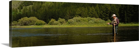 Fly fishing big hole river mt photo canvas print great for Big hole river fly fishing