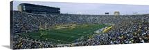 Football stadium full of spectators, Notre Dame Stadium, South Bend, Indiana