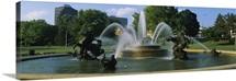 Fountain in a garden, J C Nichols Memorial Fountain, Kansas City, Missouri