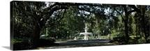 Fountain in a park, Forsyth Park, Savannah, Chatham County, Georgia,