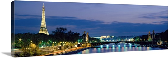France, Paris, Eiffel Tower , Seine River 