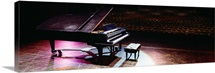 Grand piano on a concert hall stage, University Of Hawaii, Hilo, Hawaii