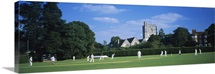 Group of people playing cricket, Berkshire, England