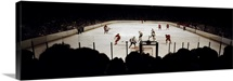 Group of people playing ice hockey, Chicago, Illinois