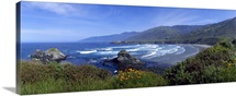 High angle view of a beach, Sand Dollar Beach, Big Sur, California