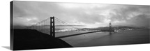 High angle view of a bridge across the sea, Golden Gate Bridge, San Francisco, California
