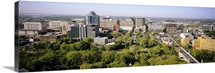 High angle view of a city, Wilmington, Delaware