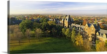 High angle view of a college, Trinity College, Hartford, Connecticut