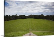High angle view of a mound, Emerald Mound, Natchez Trace Parkway, Mississippi