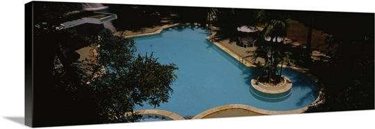 High Angle View Of A Swimming Pool Hotel Parisutham Thanjavur Tamil Nadu India Photo Canvas