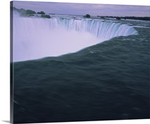 High angle view of a waterfall, Horseshoe Falls, Niagara Falls, Ontario, Canada