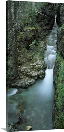 High angle view of a waterfall, Mt Timpanogos, Wasatch Mountains, Utah,