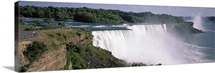 High angle view of a waterfall Niagara River Niagara Falls Niagara County New York State