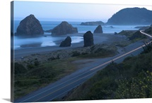 Highway along the coast, US Route 101, Meyers Creek, Cape Sebastian, Gold Beach, Oregon