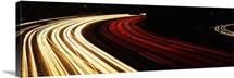 Hollywood Freeway at Night CA