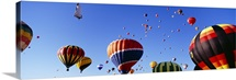Hot air balloons at the international balloon festival, Albuquerque, New Mexico