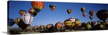 Hot air balloons floating in sky, Albuquerque International Balloon Fiesta, Albuquerque, Bernalillo County, New Mexico,