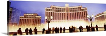 Hotel lit up at night Bellagio Resort And Casino The Strip Las Vegas Nevada
