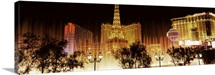 Hotels in a city lit up at night The Strip Las Vegas Nevada