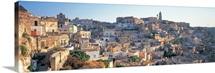 Houses in a town, Matera, Basilicata, Italy