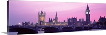 Houses of Parliament Westminster Bridge & Big Ben London England
